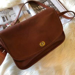 Coach Vintage Brown Leather City Crossbody Bag USA